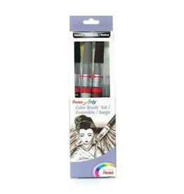 Pentel Color Brush Set Of 4/Pc
