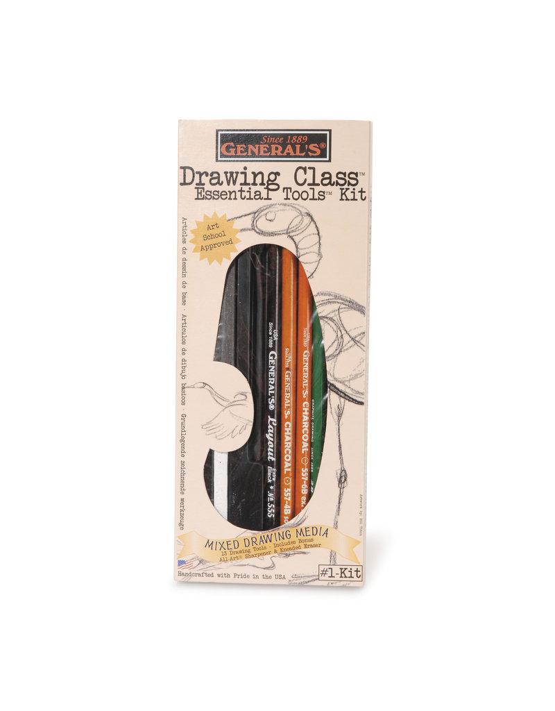 General Pencil Drawing Class Essentials Kit