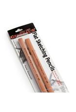 General Pencil Flat Sketch Pencil 6B - 2 Pack