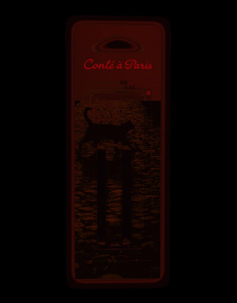 Conte Conte Crayon Sketch 2Pk Black 2B Crd