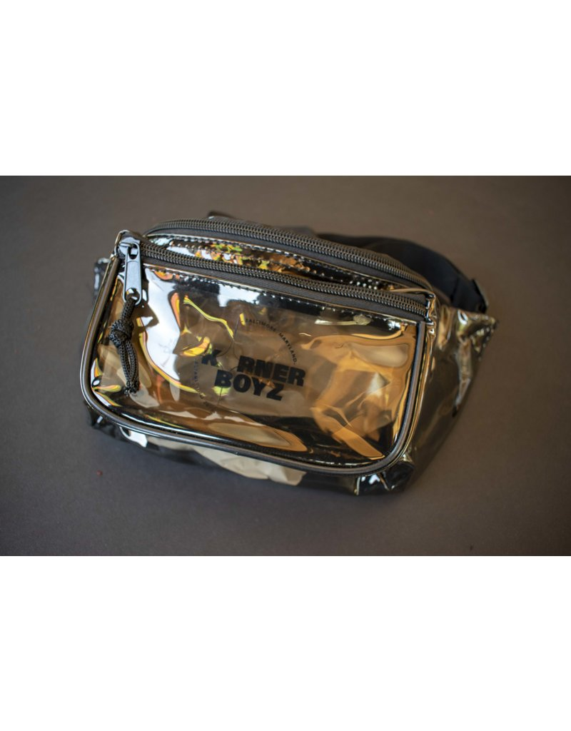 Korner Boyz KBZ Transparent Black 3 Zippered Fanny Pack