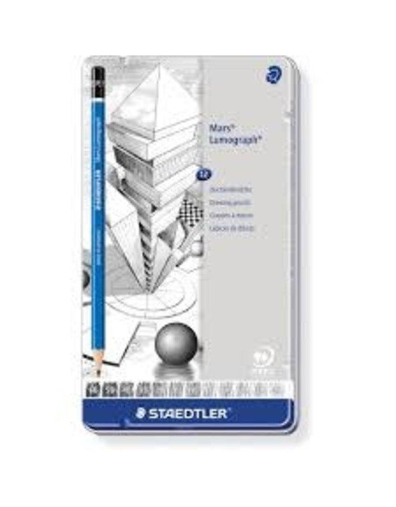 Staedtler Lumograph Pencil Sets, 12-Pencil Set - Medium Degrees