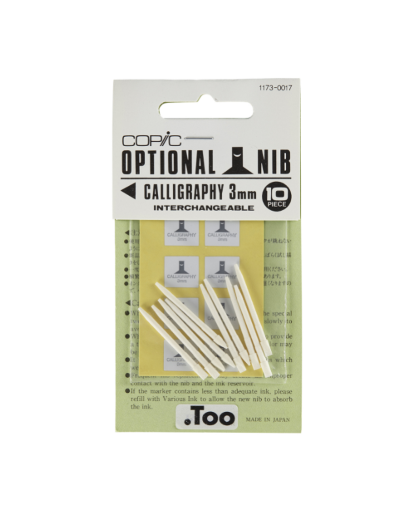 Copic Copic Marker Nibs, Copic Small Nibs (10/Pkg.), Calligraphy 3mm