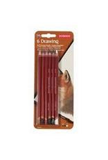 Derwent Derwent Drawing Pencil Sets, 6-Color Set
