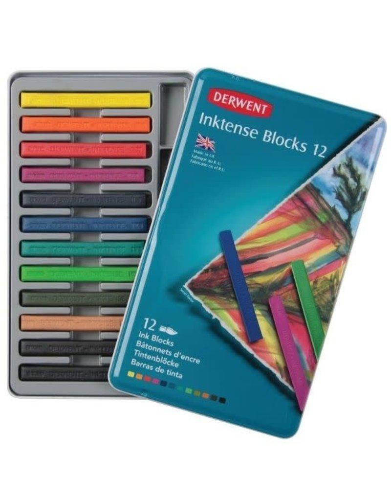 Derwent Inktense Block Sets, 12-Color Tin Set
