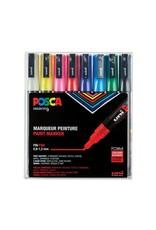 Posca Posca Paint Marker Sets, 8-Color Pc-3M Fine Set