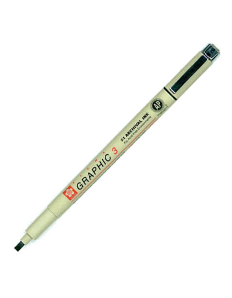 Sakura Graphic Pen 3Mm Black