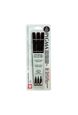 Sakura Pigma Professional Brush 3 Pack Set