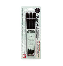 Sakura Pigma Professional Brush 3 Pack Set