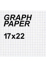 Alvin Graph Paper Sheet 17'' x 22'' 4x4 Grid