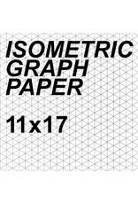Alvin Isometric Paper Sheet 11'' x 17''