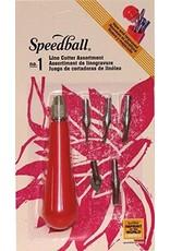 Speedball Lino Cutter #1  Assortment Carded