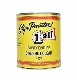 One Shot 1 Shot Clear Enamel, 32 Oz.
