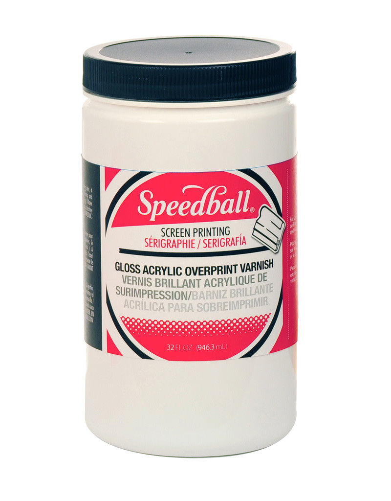 Speedball 32 Oz. Water-Soluble Gloss Overprint Varnish