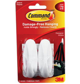 Command Command Designer Hook Clip Strip - Medium