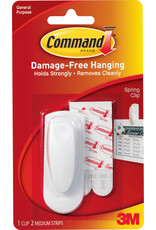 Command Command Adhesive Spring Clip - White Medium 1Pk