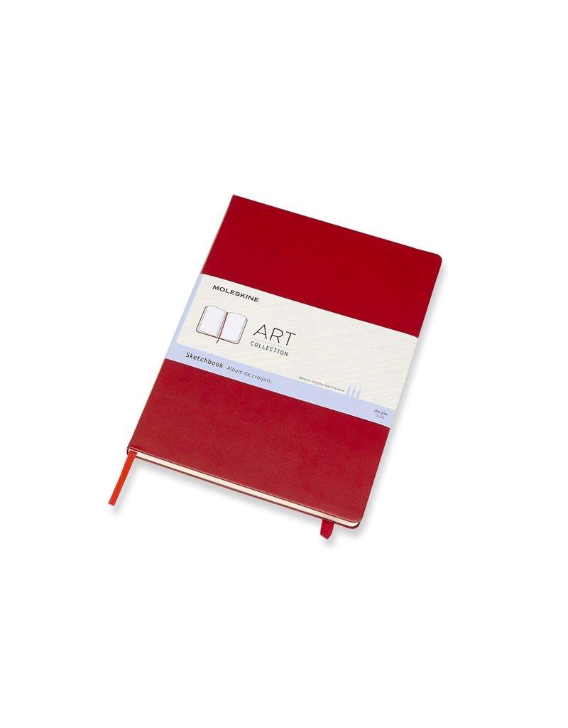 Moleskine Moleskine Art Sketchbook, A4, Scarlet Red, Hard Cover (8.25 X 11.75)