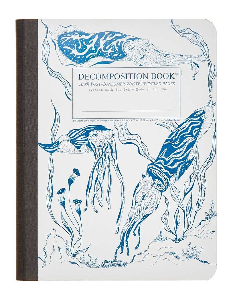 Michael Rogers Decomposition Book | Cuttlefish | Lined Pages