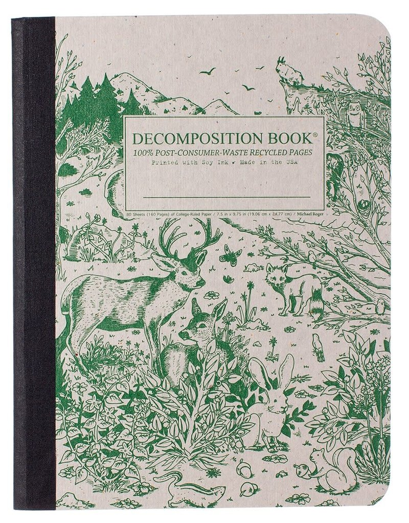 Michael Rogers Decomposition Spirit Animal Green/Gray Ruled