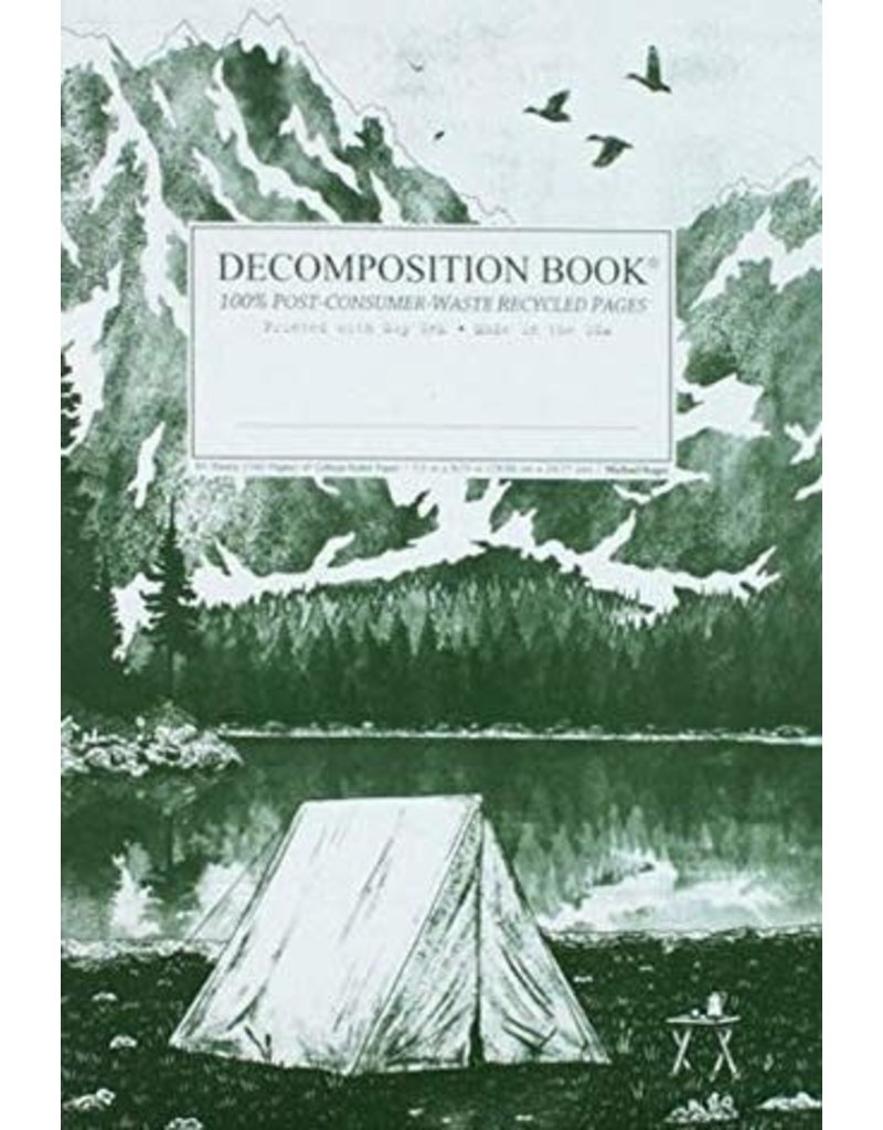 Michael Rogers Decomposition Mountain Lake Green/White Ruled