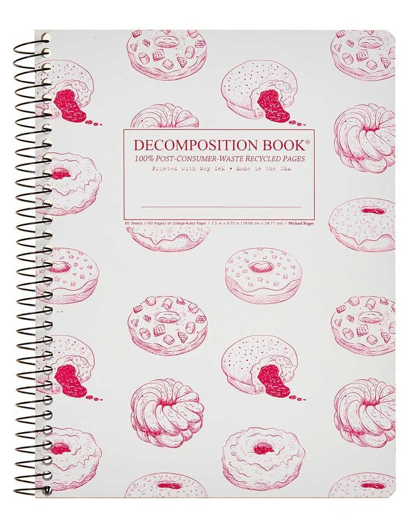 Michael Rogers Coilbound Decomposition Book | Donut Time | Lined