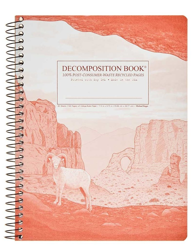 Michael Rogers Coilbound Decomposition Book | Moab | Lined