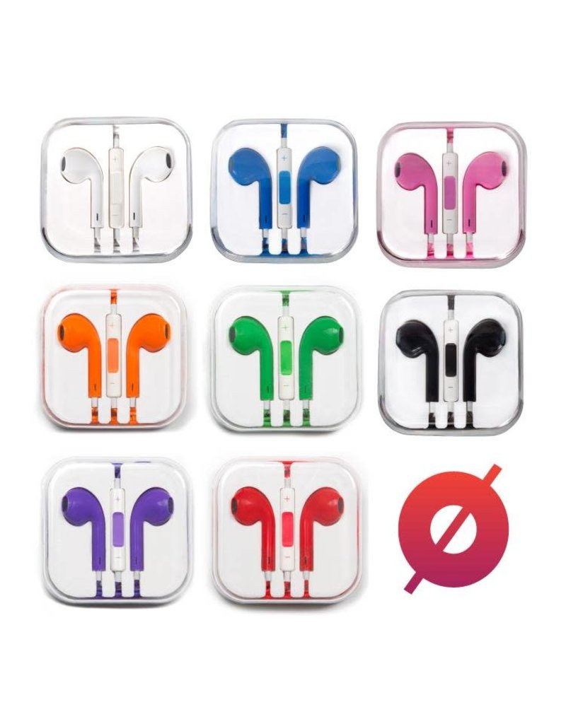 Smash Discount Earbuds W/ Remote & Mic - Red
