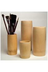 """Yasutomo Bamboo Brush Vase Medium 7- 7/8"""""""