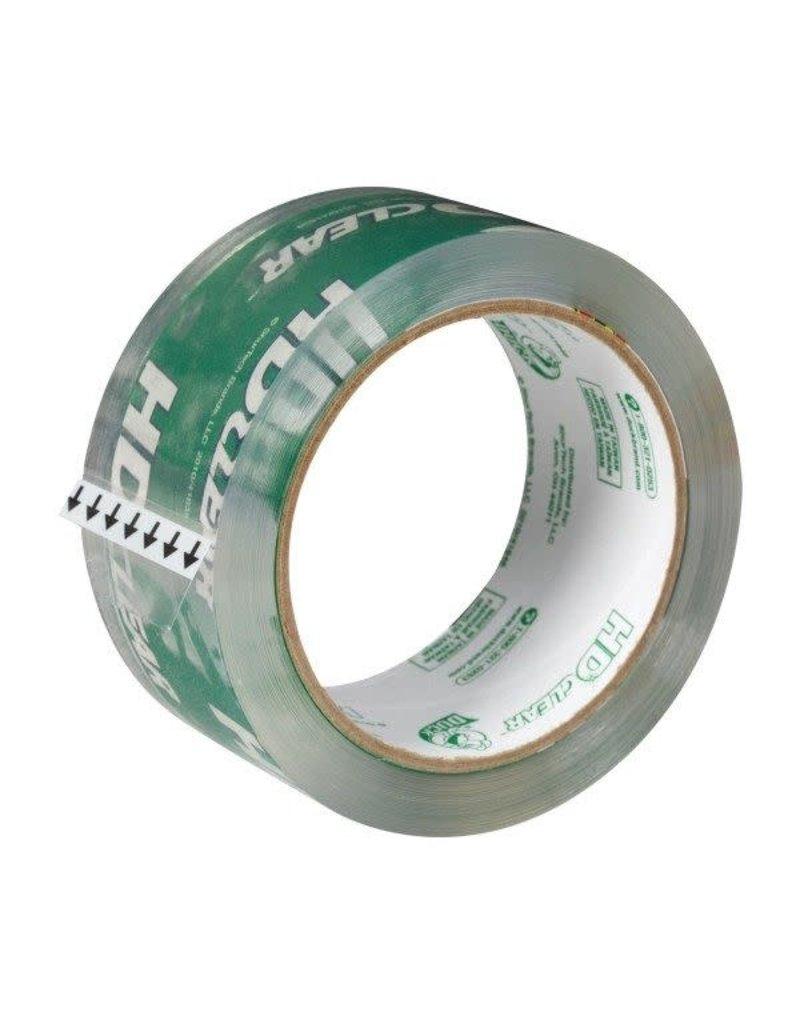 Duck Tape Duck Heavy-Duty Carton Packaging Tape, 3'' Core, 1.88'' X 55 Yds, Clear