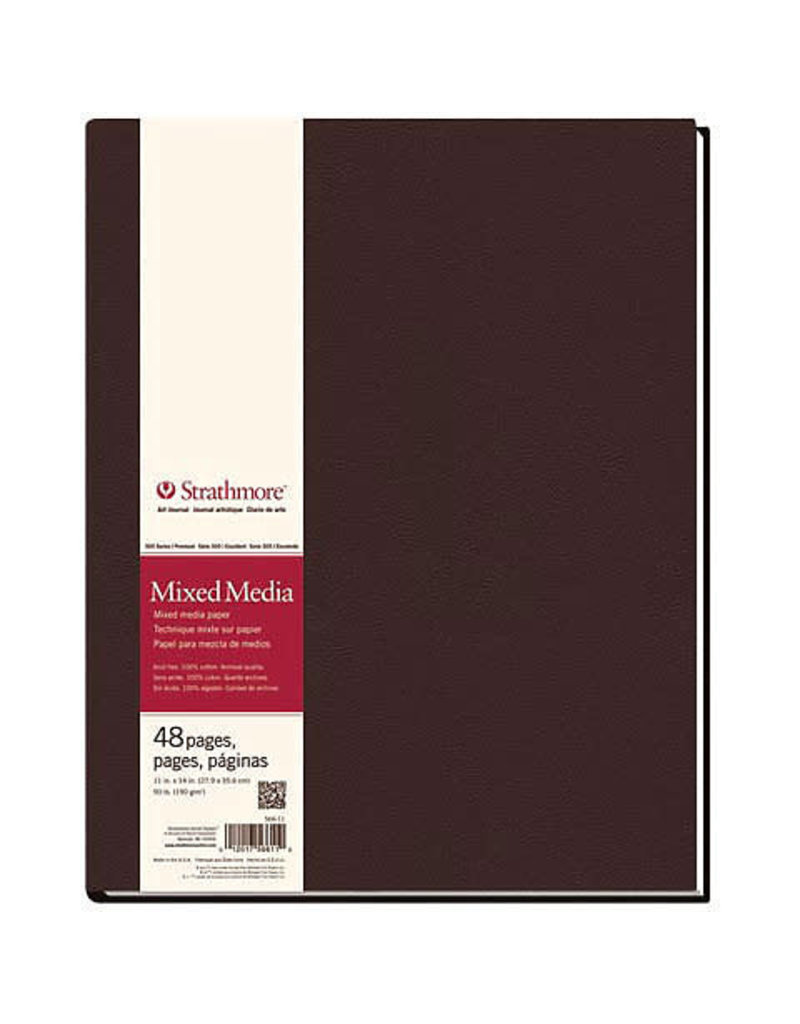 Strathmore Mixed Media Hard-Bound Art Journals 500 Series, 8.5 X 11.5