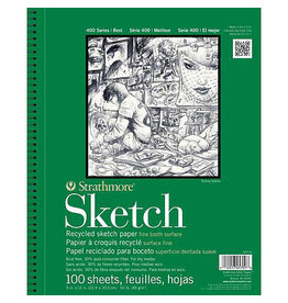 Strathmore Sketch Paper Pads 400 Series Recycled, 11'' X 14'' - 100/Sht.