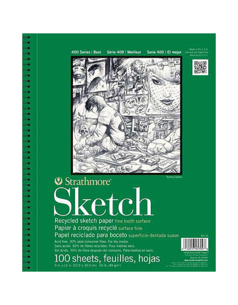 Strathmore Sketch Paper Pads 400 Series Recycled, 18'' X 24'' (30/Sht.) - Tape Bound Pad