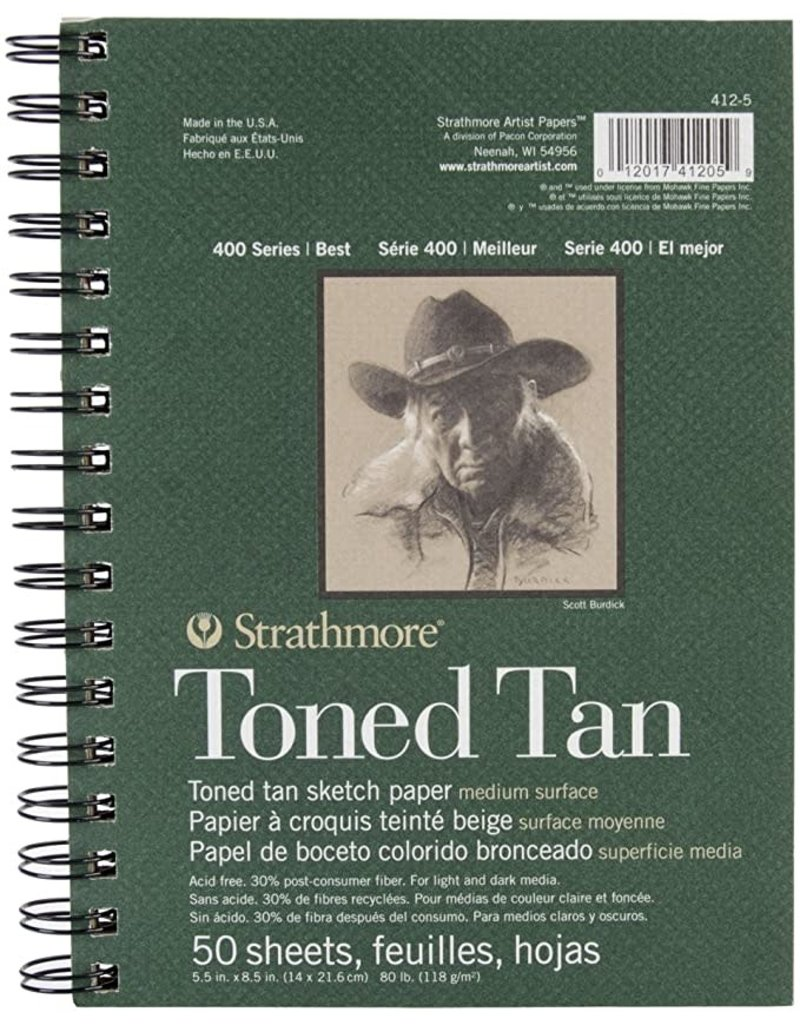 Strathmore Sketchbook Toned 400 Wb Tan 9X12