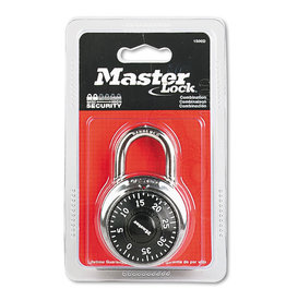 Masterlock MASTERLOCK 1-7/8'' - 3 DIGIT COMBINATION LOCK - BLACK (6/24)