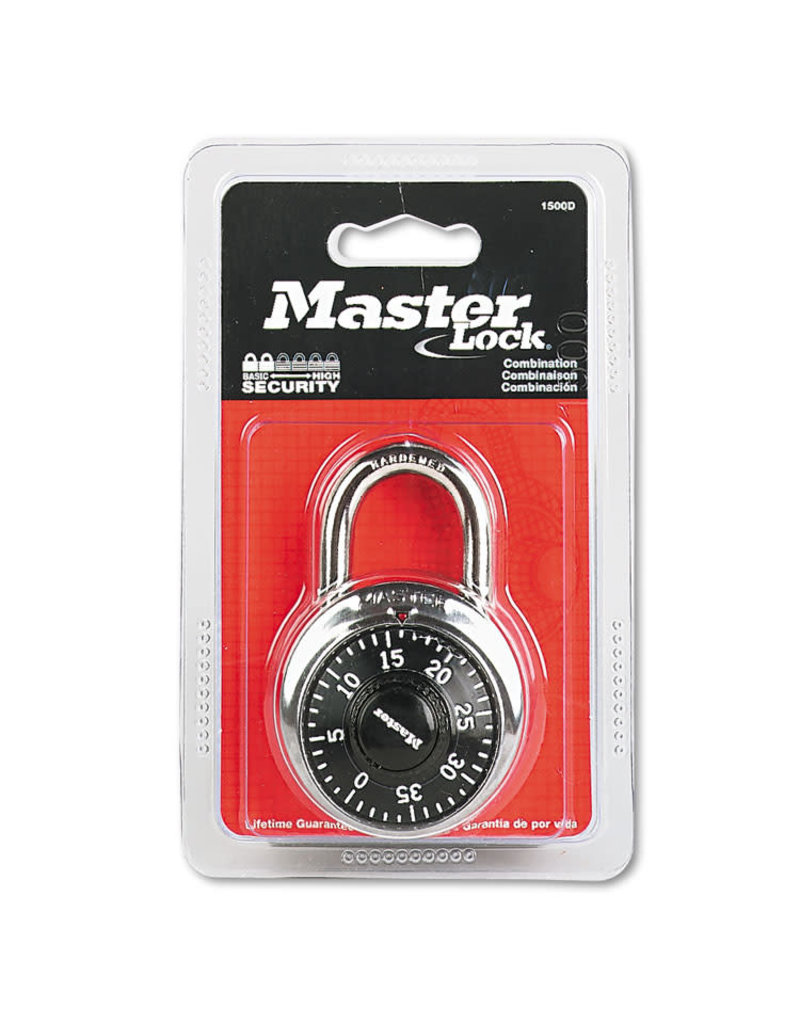 Masterlock MASTERLOCK 1-7/8'' - 3 DIGIT COMBINATION LOCK - BLACK (6/24)