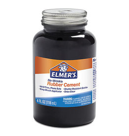 Elmers Rubber Cement No Wrinkle 8Oz