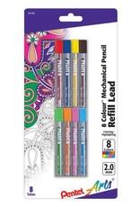 Pentel Color Lead Assortment 8/Pk