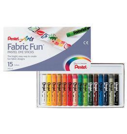 Pentel Fabric Fun Dyeing Pastel Set Of 15