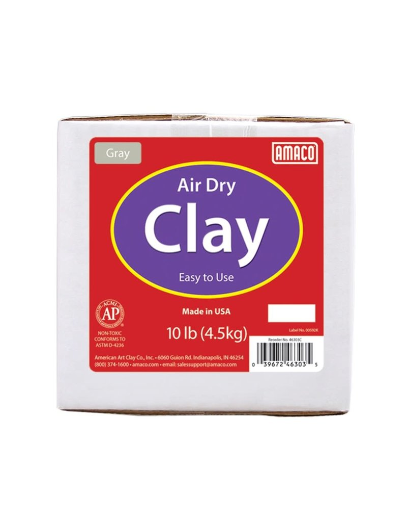 Amaco Clay Air Dry Gray 10Lb
