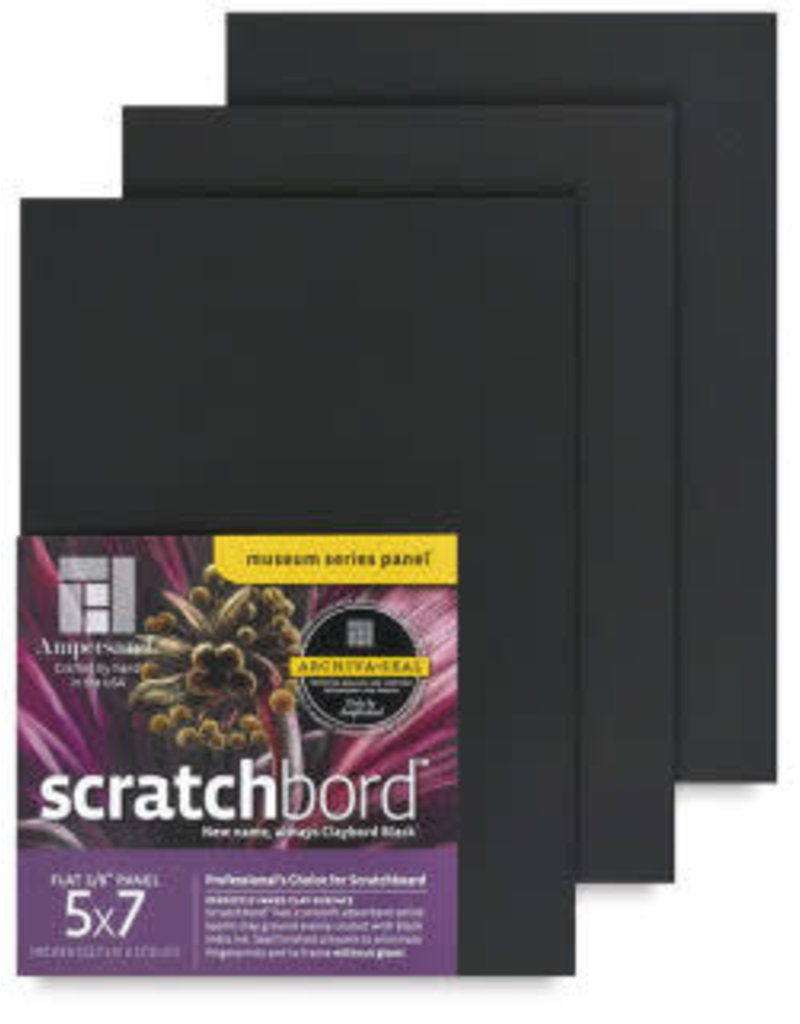 Ampersand Art Scratchbord 1/8In Flat 3Pk 5X7