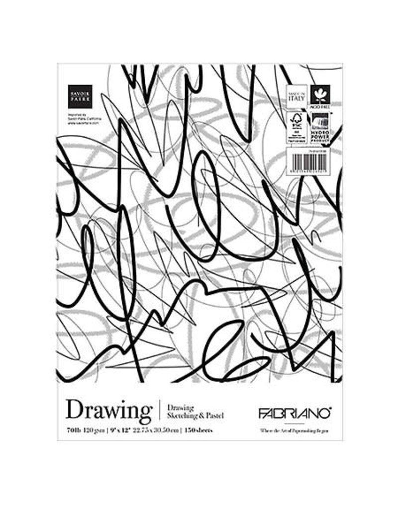 Fabriano Fabriano Studio Drawing Fat Pad, 9'' x 12'' - 150 Shts./Pad