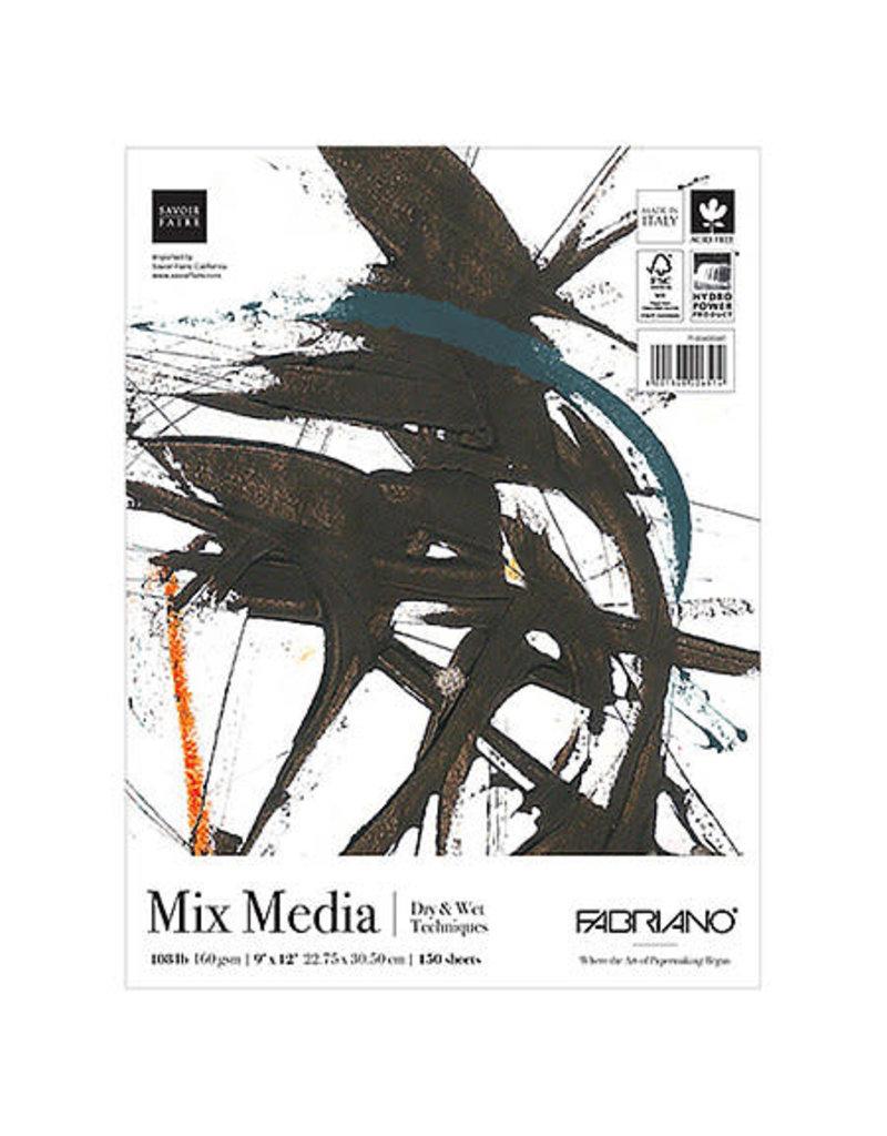 """Fabriano Fabriano Studio Mixed Media Fat Pad, 9"""" x 12"""" - 150 Shts./Pad"""