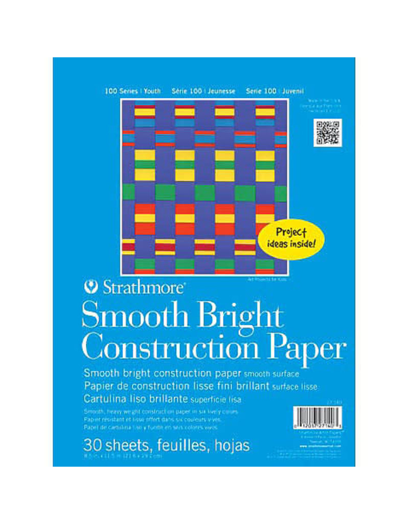 Strathmore Kids Smooth Bright Construction Paper Pad, 8-1/2'' x 11''