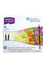 Derwent Academy Colored Pencil Sets, 12-Color Tin Set - Peggable