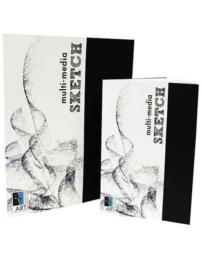 Art Alternatives Mixed-Media Sketch, 8.5'' X 11'' - 24 /Sht. , Staple Bound Pad