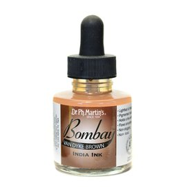 Dr. PH Martin Bombay India Ink 1Oz  Vd Brown