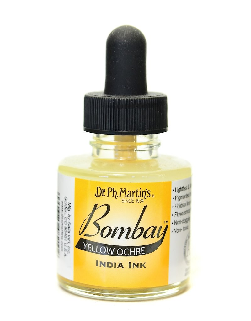 Dr. PH Martin Bombay India Ink 1Oz  Yel Ochre