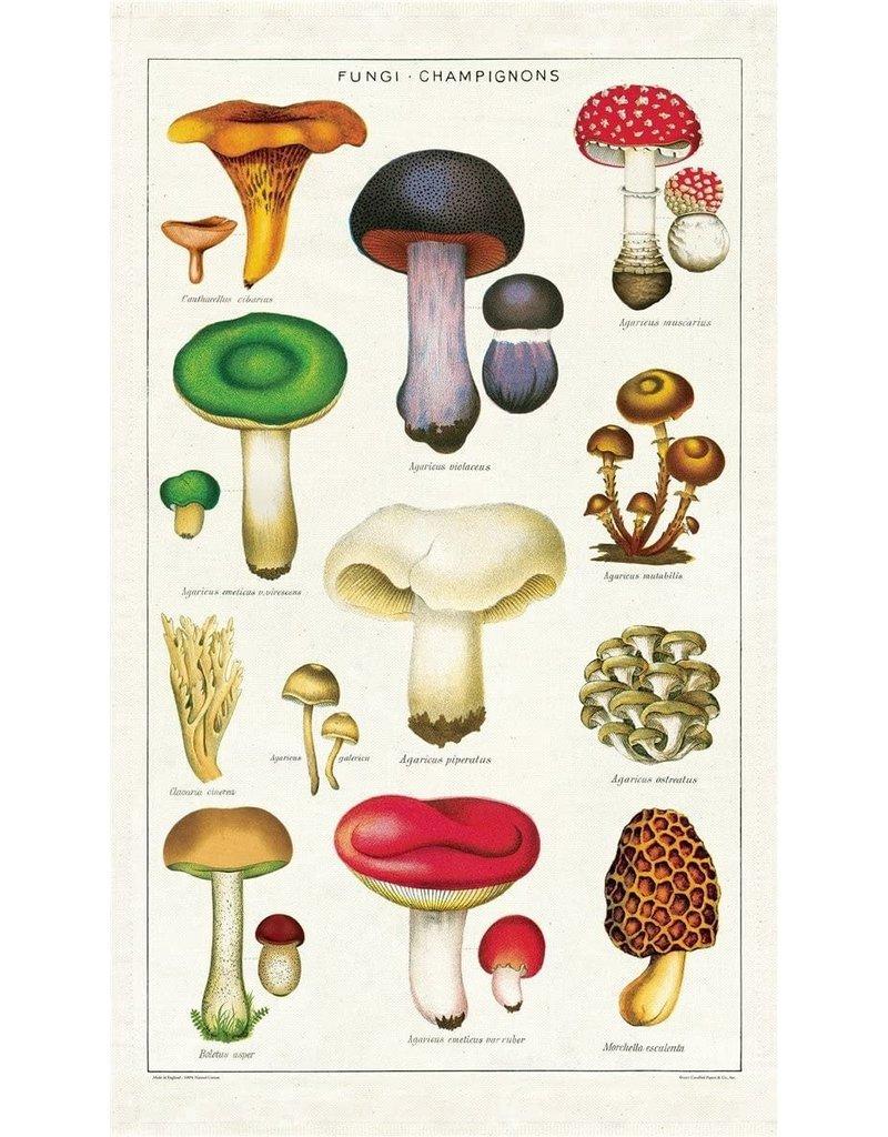 Cavallini 2019 Mushrooms Tea Towel