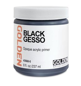 Golden Black Gesso- 8 oz