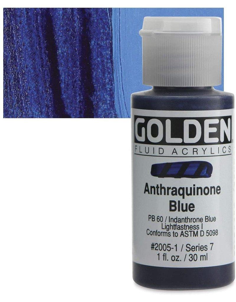 Golden Fluid Anthraquinone Blue  1Oz
